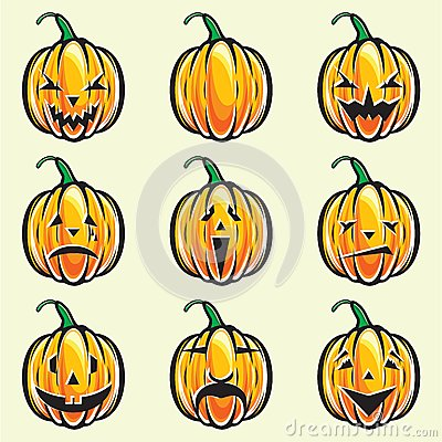 Holiday pumpkin jack lantern collection
