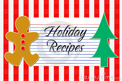 Holiday Recipe Card