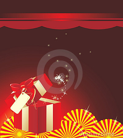 Free Holiday Red Box With Bow Royalty Free Stock Photos - 19543078