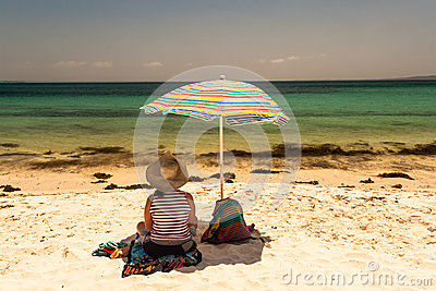 Holiday Relax Beach Lady