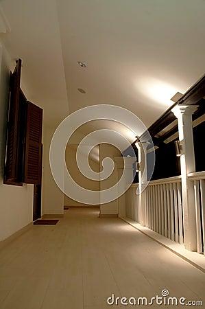 Holiday resort corridor