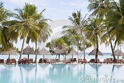 holiday resort at a tropical beach