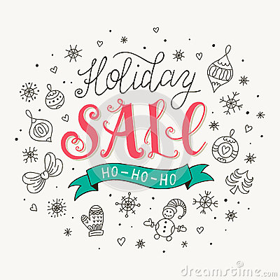 Free Holiday Sale Poster Royalty Free Stock Photography - 63067307
