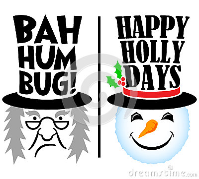 Holiday Scrooge and Snowman/eps