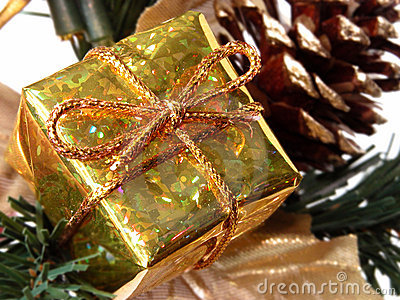Holiday & Seasonal: Small Gold Gift Box