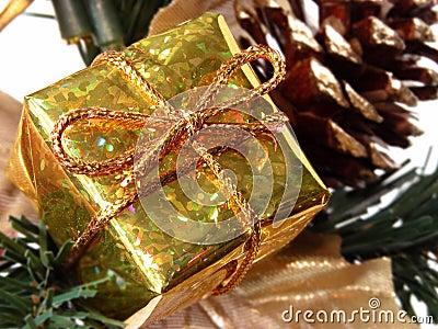 Holiday & Seasonal: Small Gold Gift Box