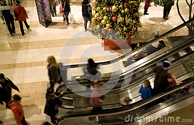 Holiday shopping mall