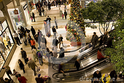 Holiday shopping mall Editorial Photography