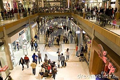 Holiday shopping mall Editorial Image