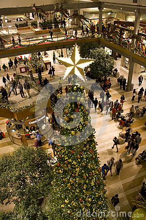 Holiday shopping mall Editorial Image