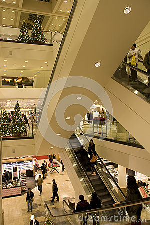 Holiday shopping mall Editorial Photo