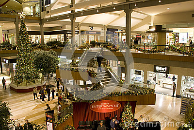Holiday shopping mall Editorial Stock Photo