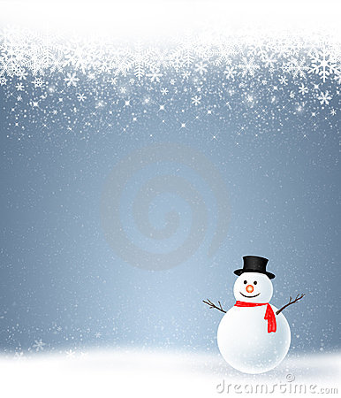 Holiday with snowman