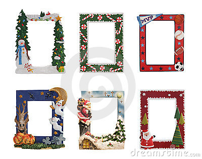 christmas halloween and sports colorful picture frames