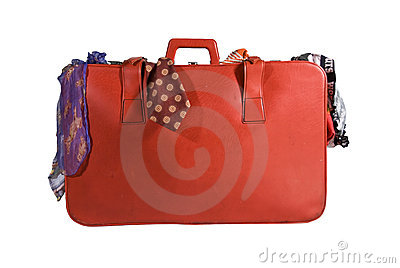 Holiday Suitcase Packed With Clothes