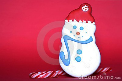 Holiday Sweets Red Background