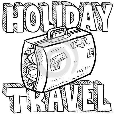 Holiday travel vector sketch