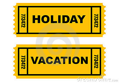 Holiday Vacation tickets