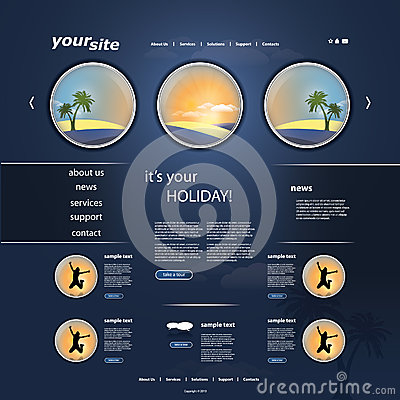 Holiday Website Template