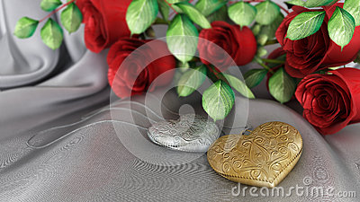 holiday and wedding background with roses