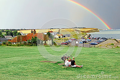 Holidaymakers in rural kent Editorial Photo