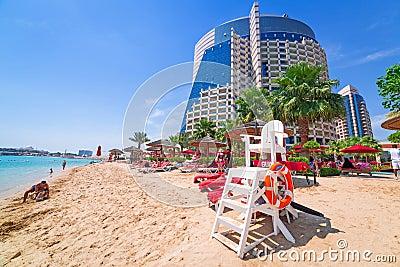 Holidays on the beach in Abu Dhabi Editorial Photo