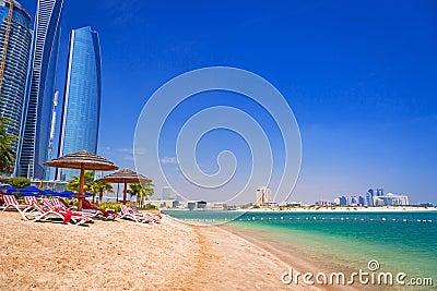 Holidays on the beach in Abu Dhabi, United Arab Emirates