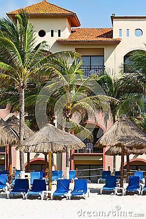 Holidays on the Caribbean beach
