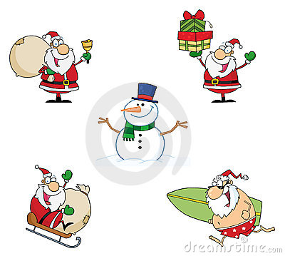 Holidays cartoon characters