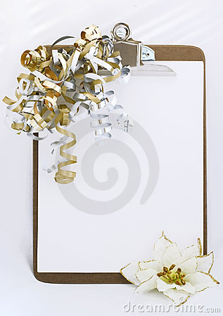 Holidays clipboard
