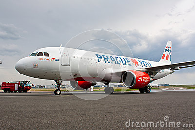 A320 Holidays Czech Airlines Editorial Stock Image