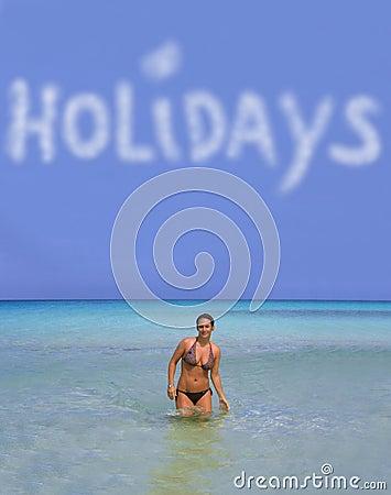 Holidays and girl