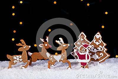 Holidays greeting card with cookies