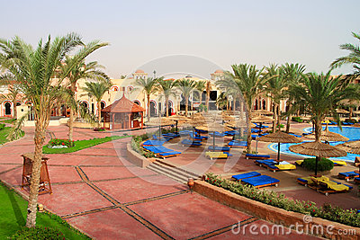 Holidays in tropical resort of Egypt
