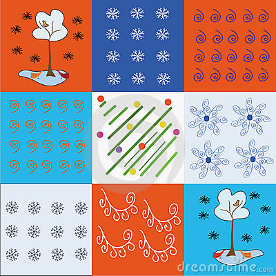 Holidays winter pattern