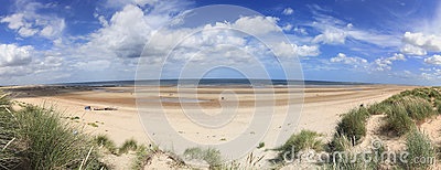 Holkham Beach Panorama Norfolk Seaside England
