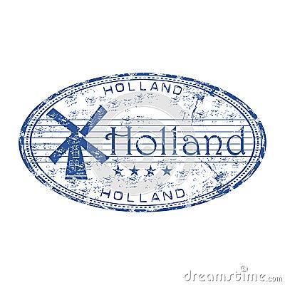 Holland grunge rubber stamp