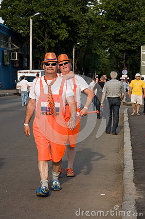 Holland supporters in Kharkov, Ukraine Editorial Photo