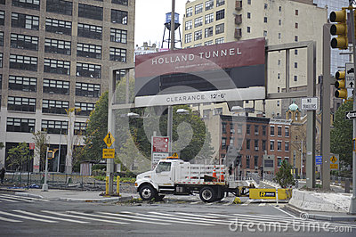 Holland tunnel closed Editorial Image