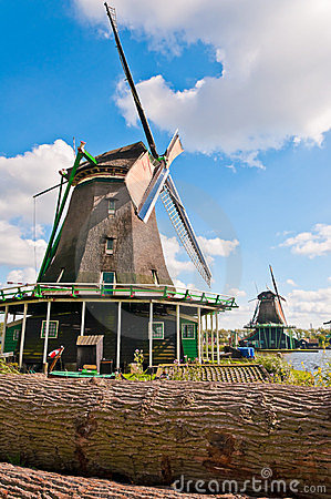 Free Holland Windmills View Stock Image - 23401171