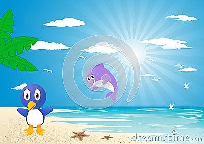 Holliday on beach