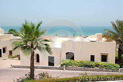 Holliday villa at the luxury hotel and palm