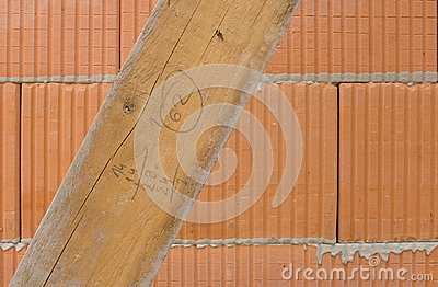 Hollow brick with board