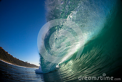 Hollow Wave Inside Water