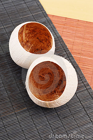 Hollowed Out Coconuts
