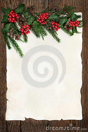 Free Holly And Fir Border Royalty Free Stock Photos - 58799648