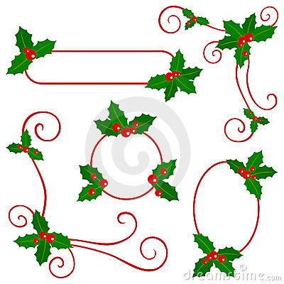 Free Holly Berry Borders Stock Photos - 11332803