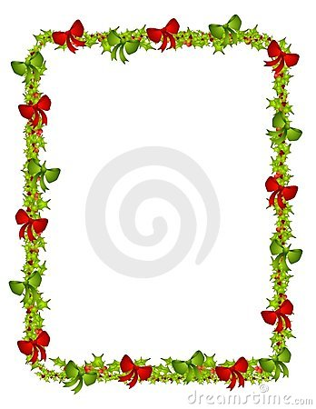 Holly and Bows Border
