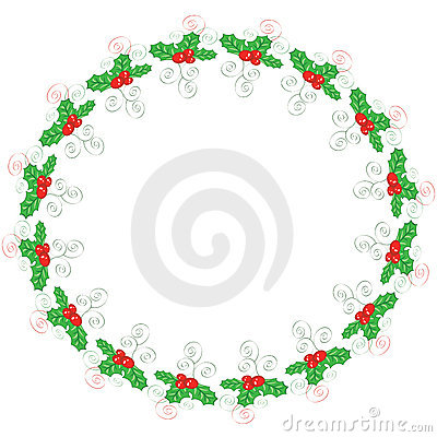 Holly round frame