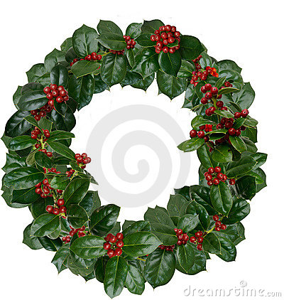 Free Holly Wreath Royalty Free Stock Photography - 22434687